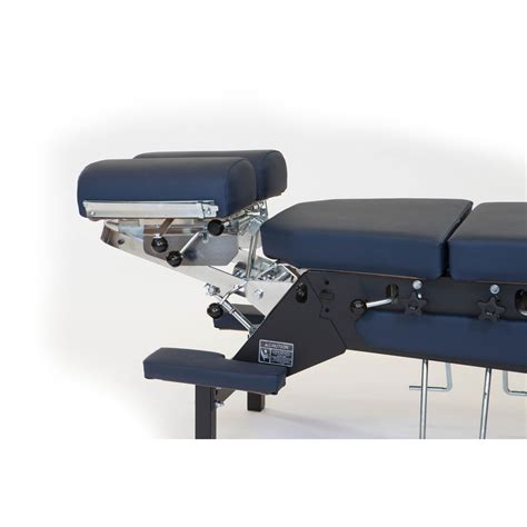 stationary table with cervical pelvic thoracic drop