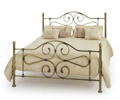 Florence Metal Bed Frame Serene Florence 5ft Kingsize Antique Brass Metal Bed Frame By Serene Furnishings