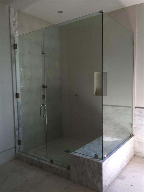 Large Glass Shower Large Half Inch Frameless Glass Shower Enclosure Patriot