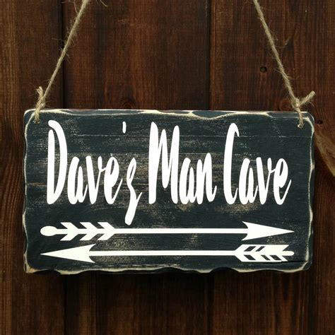 Handcrafted Wooden Signs - personalised cave handmade wooden sign by bobby