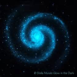 glow in the ceiling poster large spiral galaxy