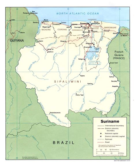 where is suriname on a map nationmaster maps of suriname 6 in total