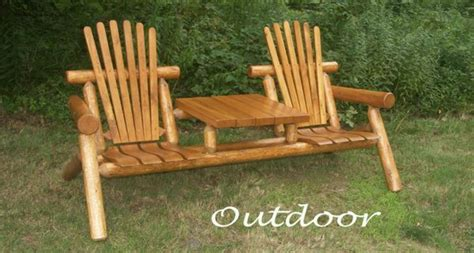 rustic log benches outdoor outdoor log furniture outdoor goods