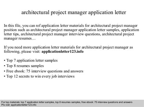 Home Cover Set By Request architectural project manager application letter
