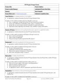 Project Scope Document Template by Best Photos Of Project Scope Document Sle Project