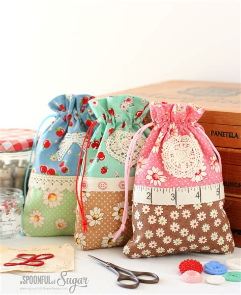 retro drawstring bag a spoonful of sugar