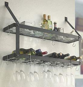 Wall Mount Wine Glass Rack by Wall Mount Wine And Stemware Rack In Wine Glass Racks