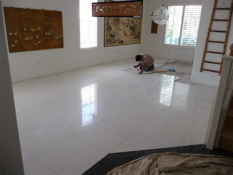 thb construction updating floor tile with 2ft x 2ft - Granit Bodenfliesen