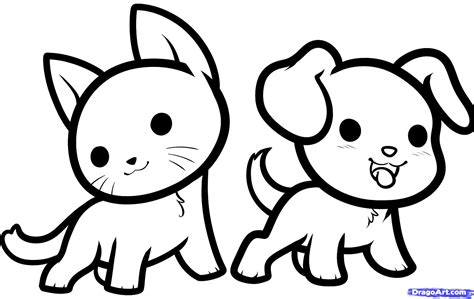 cute baby animals drawings coloring pages draw easy