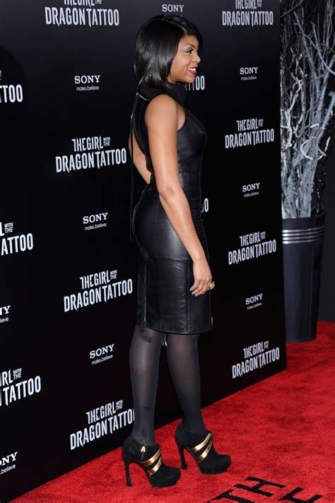 taraji p henson tattoo more pics of taraji p henson leather dress 4 of 7
