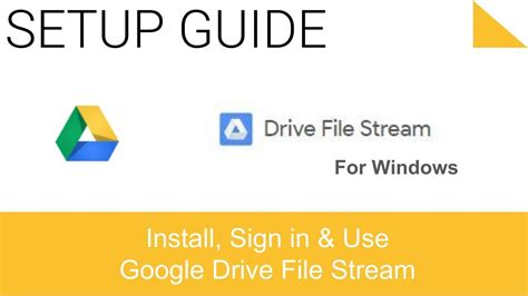 drive file stream is not enabled for the account install google drive file stream on pc