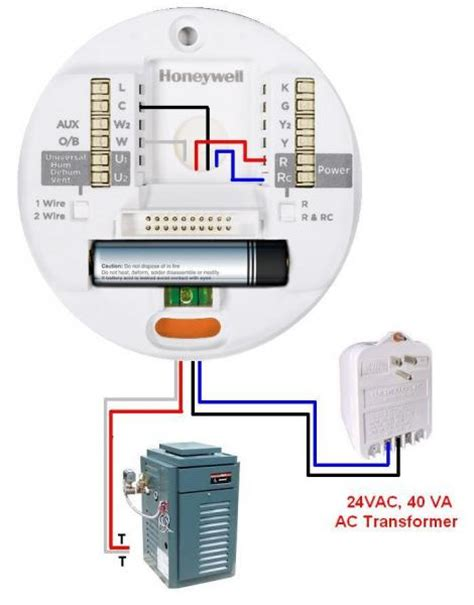 honeywell thermostat wiring diagram 2 wire efcaviation