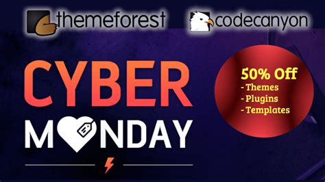 themeforest cyber monday themeforest codecanyon cyber monday discount 50 off