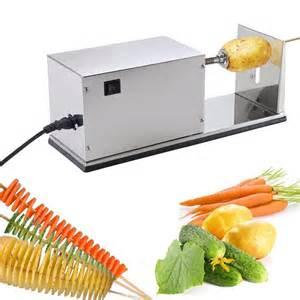Indoor Vegetable Garden Lighting - electric potato twist automatic cutter machine twister spiral vegetable chips ebay