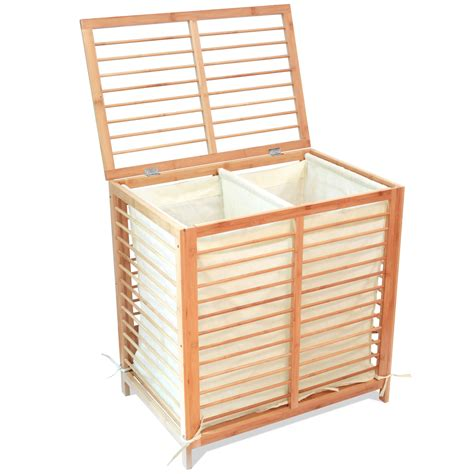 Ikea Cart On Wheels bamboo laundry hamper with lid at 59 95 only