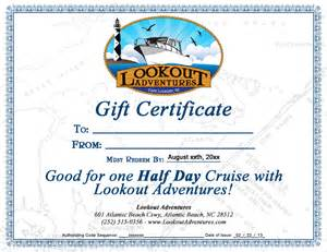 Fishing Gift Certificate Template by Purchase Gift Certificates Charter Boat Boat