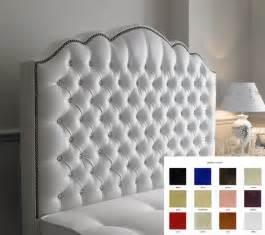 diamante leather studded 4ft6 headboard ebay