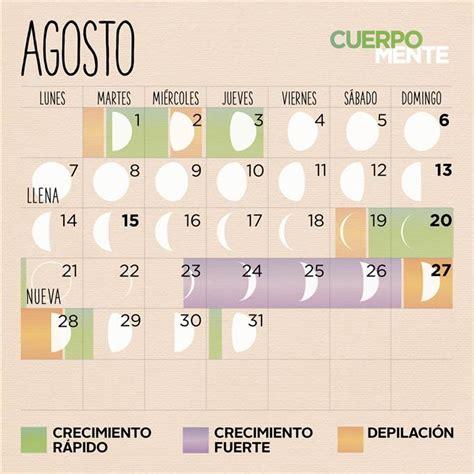 Calendario Lunare Agosto 2017 Calendario Lunar De Agosto 2017