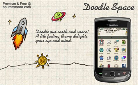 free doodle theme for blackberry introducing doodle space theme for blackberry mmmooo