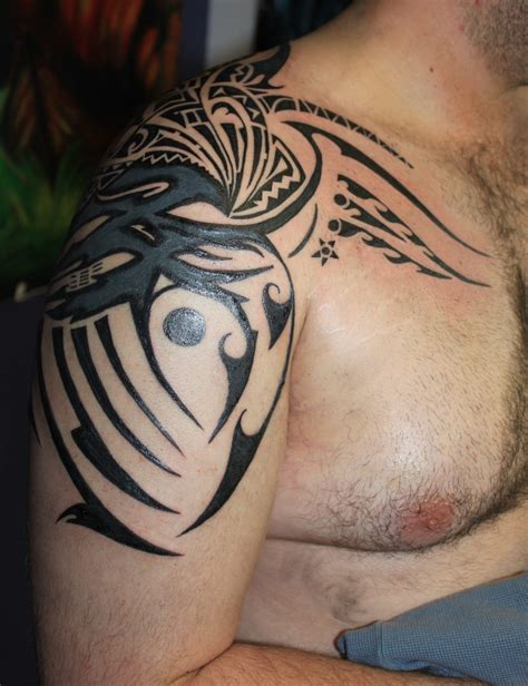 dark tribal tattoos 69 traditional tribal shoulder tattoos