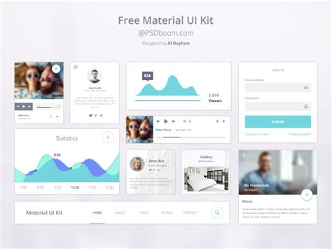 Google Design Ui Kit | google material design ui kit vector image 365psd com