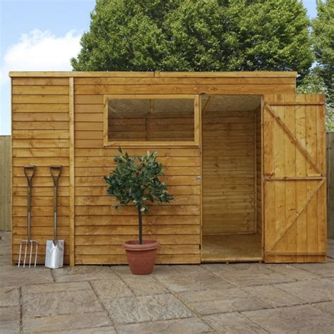 Garden Sheds Argos by Buy Mercia Overlap Pent Wooden Garden Shed 10 X 6ft At Argos Co Uk Your Shop For