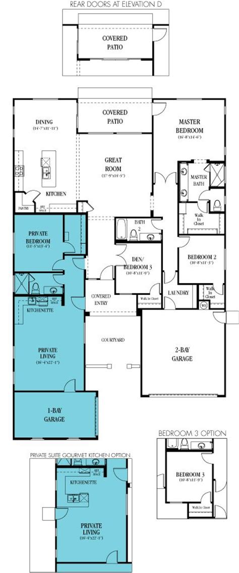 house plans with in suite home floor plans kitchenettes and living spaces on