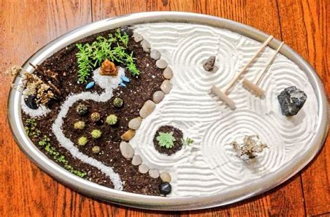 mini zen rock garden miniature zen garden for relaxing small garden ideas