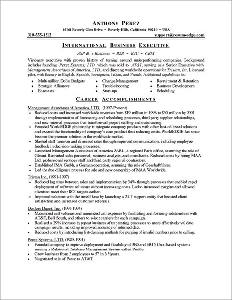executive resume sle powerful executive resumes