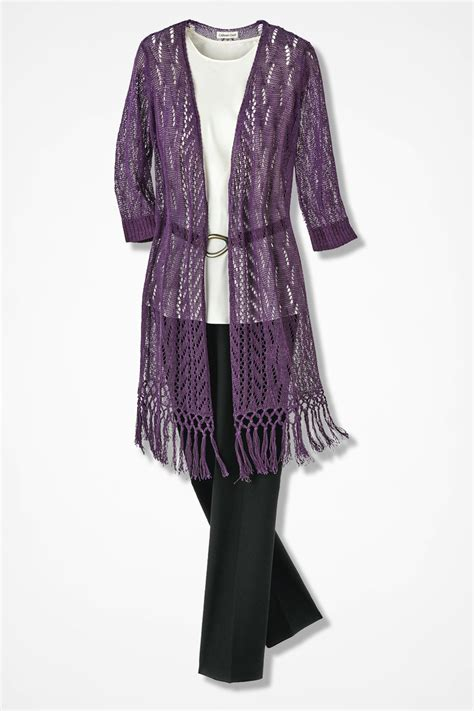 Duster Sweaters by Fringed Duster Sweater Coldwater Creek