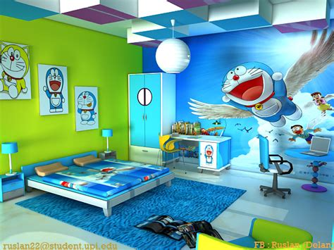 desain kamar serba doraemon inilah desain kamar tidur doraemon yang menakjubkan