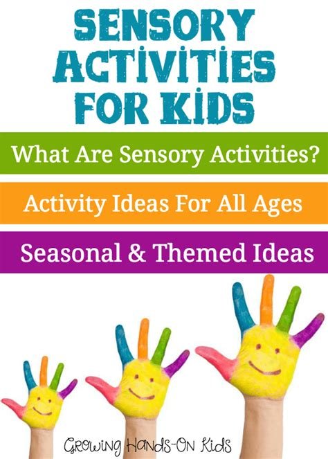 7 Activities For Children by Sensory Activities For Children Growing On