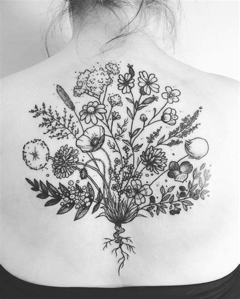 flower bouquet tattoo designs best 25 bouquet ideas on flower
