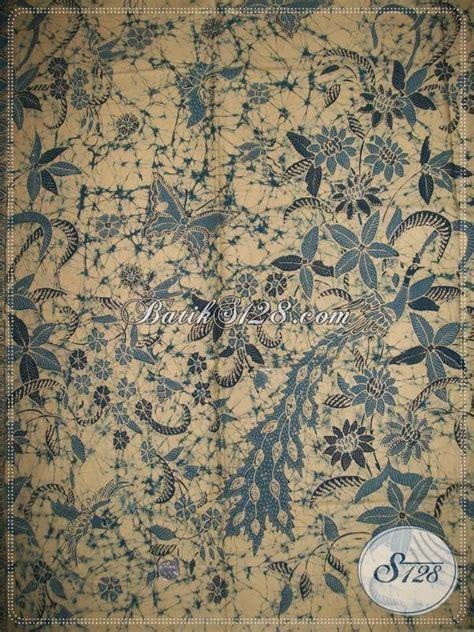 Kemeja Batik Tulis Indigo 075 batik tulis halus motif sekar kupu warna alam indigo bahan