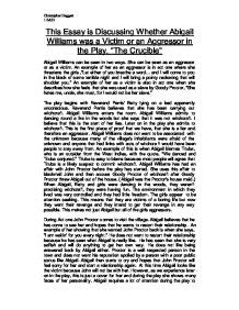 Omissions Criminal Essay by Essay About Abigail Williams Image 5