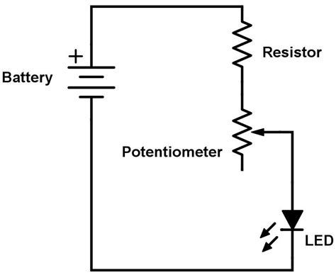 using 1 resistor for leds the potentiometer and wiring guide build electronic circuits