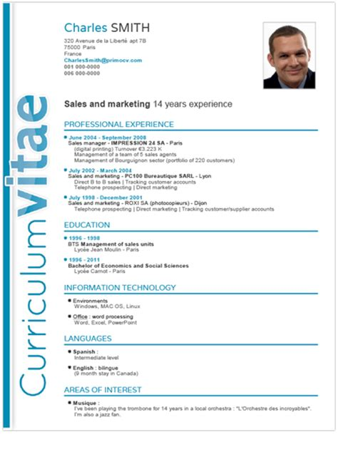 the best cv template classic cv template