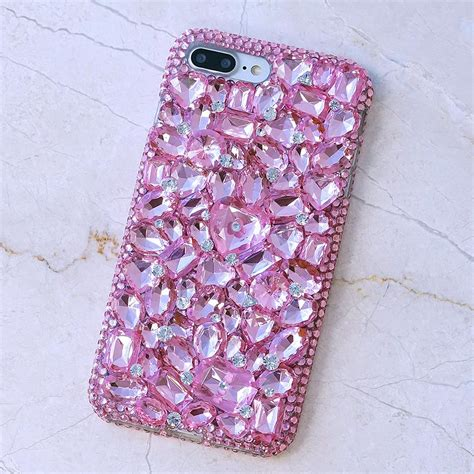 bling cases custom  pink crystals case  iphone    iphone  samsung galaxy note