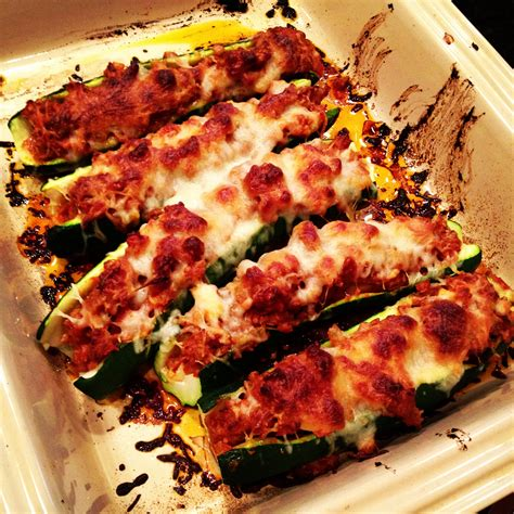 italian stuffed zucchini boats nutrition foodista recipes cooking tips and food news sausage