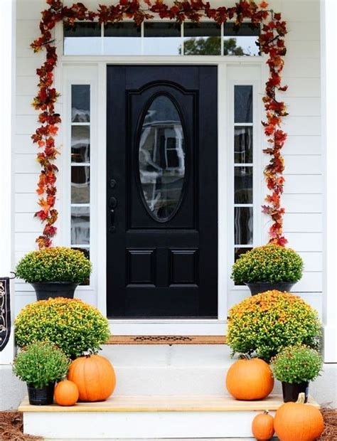 front door ideas get into the seasonal spirit 15 fall front door d 233 cor ideas