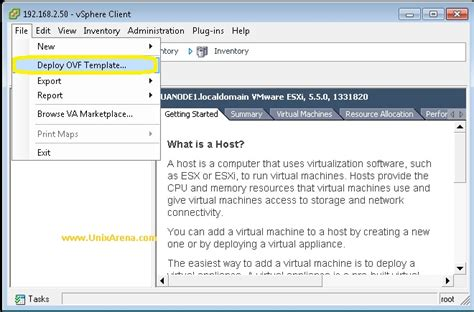 deploy ovf template how to deploy and configure vcenter appliance 5 5