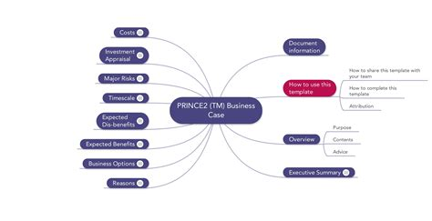 prince2 business template word prince2 templates mind maps word excel and pdf