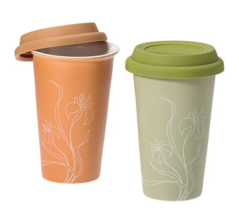 coffee    kaffeebecher aus keramik mit silikondeckel