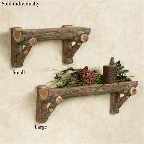 rustic wall shelves rustic timber faux log wall shelf