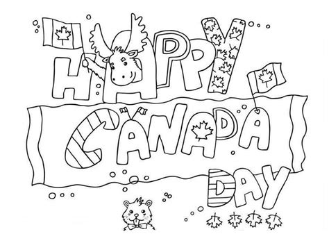 happy canada day coloring pages patriotic part two