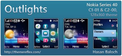 mobile9 themes nokia c2 00 outlights live theme for nokia c1 01 c2 00 2690 128