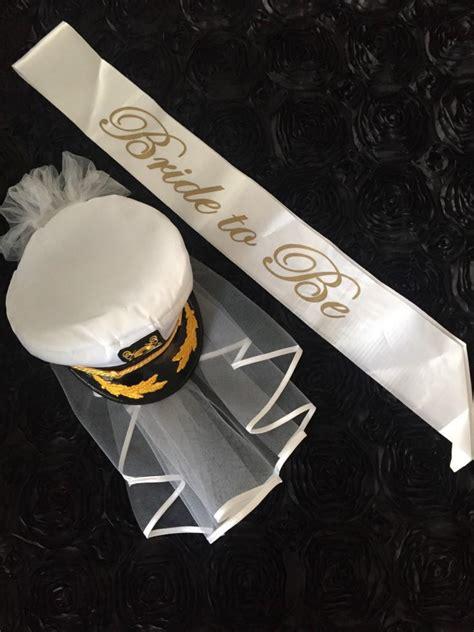 Anchor Trendy Cap nautical bachelorette captain hat last sail before the veil black white bridal