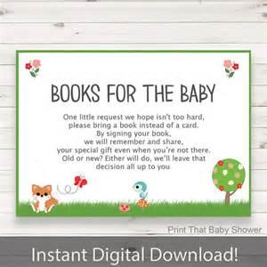 baby shower invitation insert woodland books for baby baby shower inserts invitation