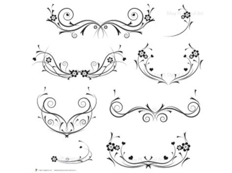 Making Of Home Decorative Items Flourishes Decorations Black Curly Flourishes Swirls