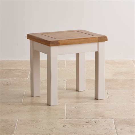 Dressing Table Stool Chair by Kemble Dressing Table Stool In Painted Rustic Solid Oak